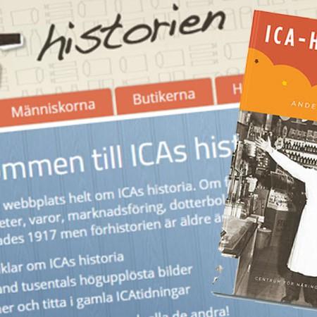 För ICA har Centruim för Näringslivshistoria lyft historien om handlare i samverkan på många sätt.
