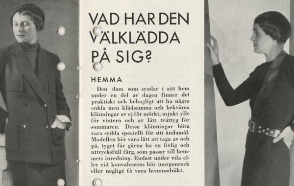Stilguide, 1932, MEAs arkiv.