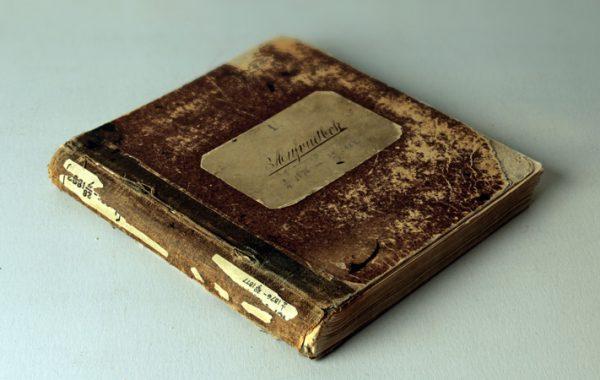 Ericssons första huvudbok, 1882, Telefonaktiebolaget LM Ericssons arkiv.