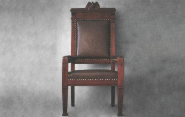 Ordförandestol, 1884, Skandias arkiv.