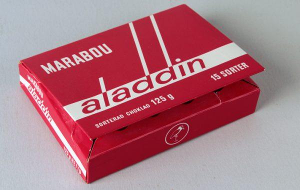 Aladdinask, ca 1960, ur AB Marabous arkiv.